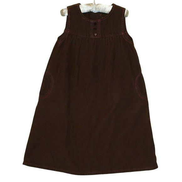 Baby Gap Brown Corduroy Jumper Dress Size 5 5T